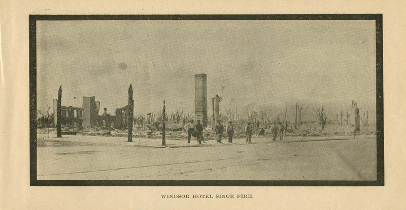 Windsor Hotel Since Fire