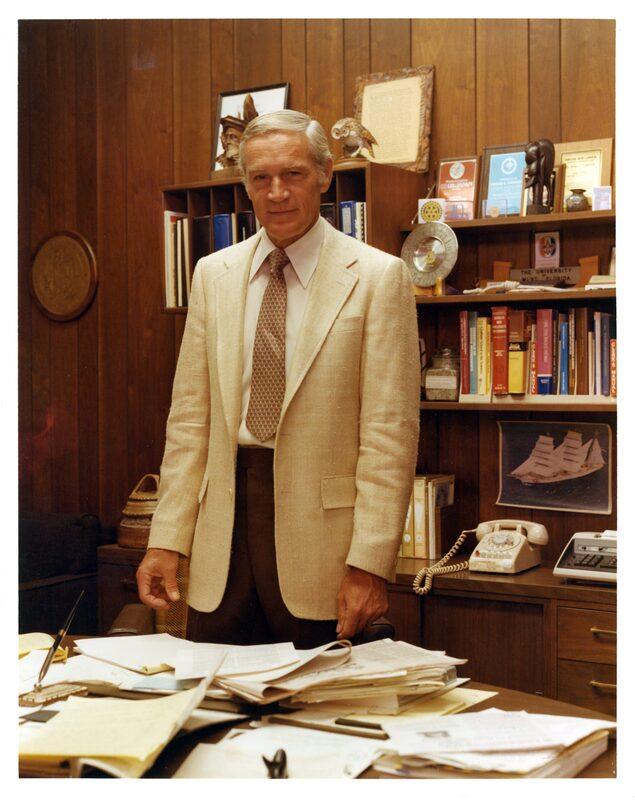 President Carpenter in his office in 1980