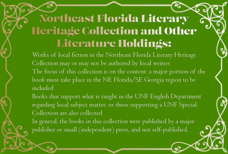 Narrative card: Northeast Florida Literary Heritage Collection
