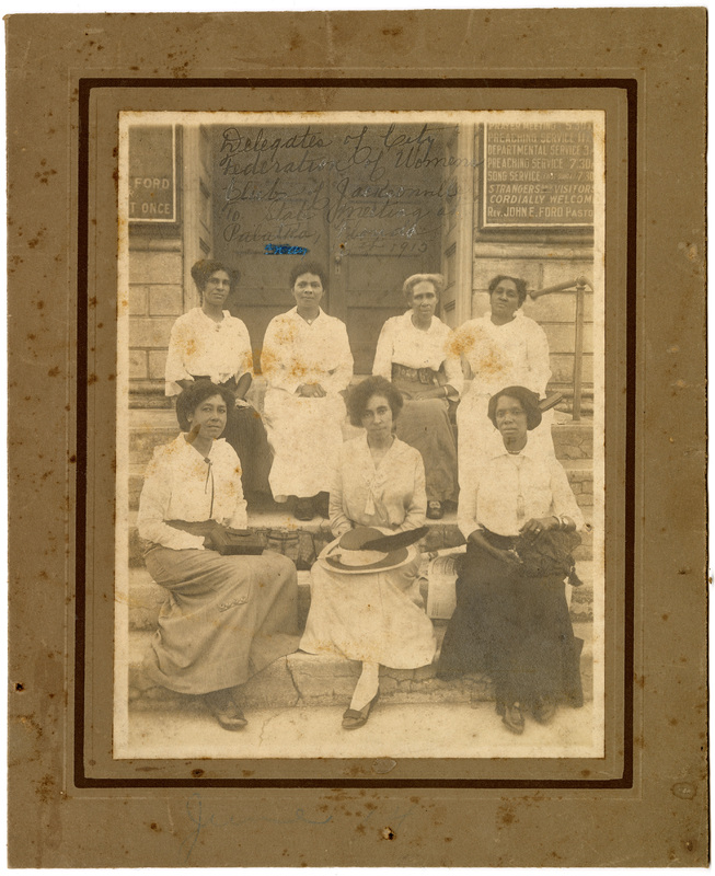 Eartha White with delegates of the City Federation of Colored Women's Clubs of Jacksonville