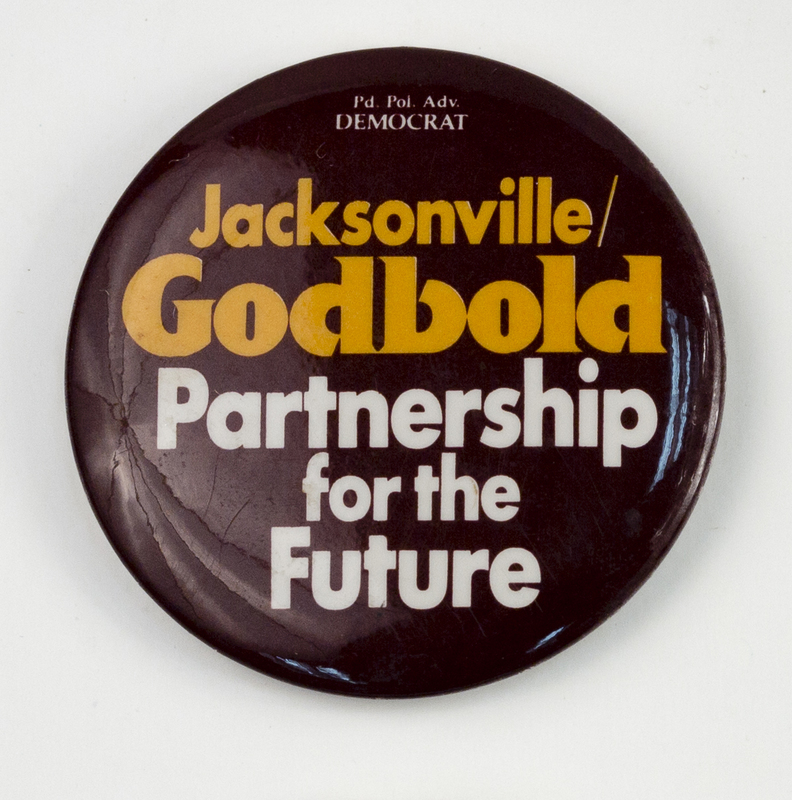Jacksonville/Godbold Partnership for the Future political campaign button