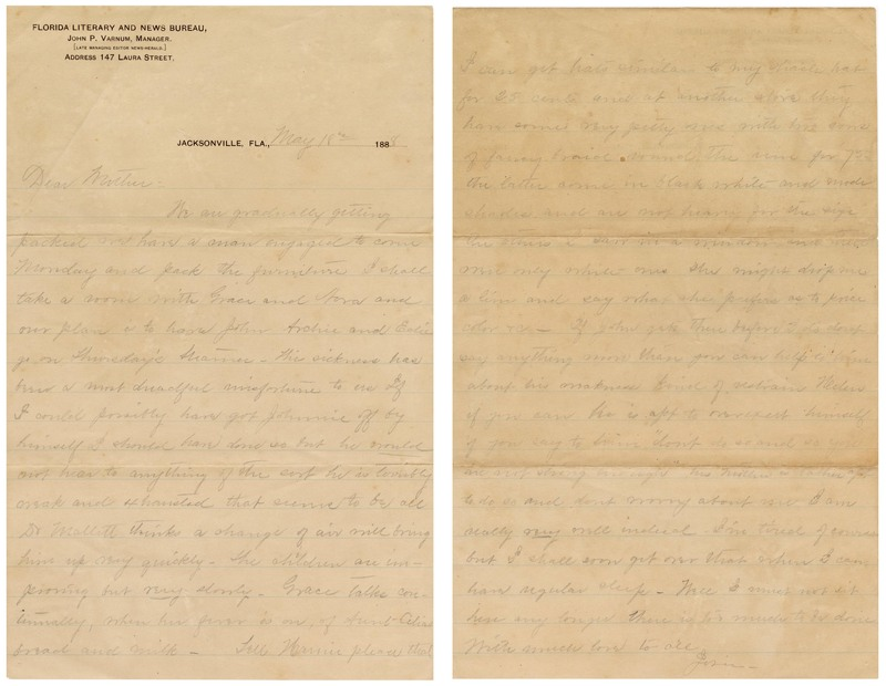 A letter from the Varnum Family Papers