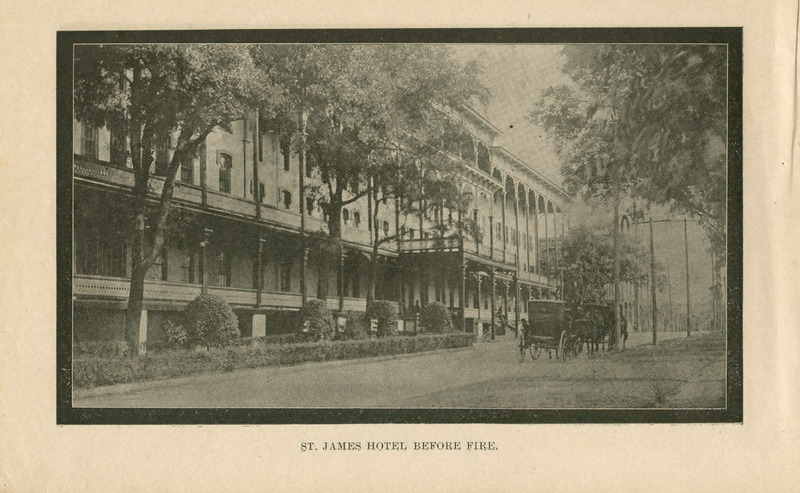 St. James Hotel Before Fire