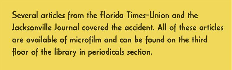 News clippings caption card