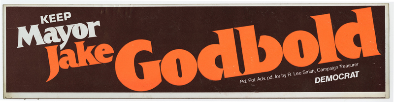 Keep Mayor Jake Godbold bumper sticker