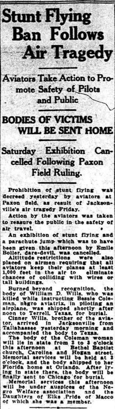 """""""Stunt Flying Ban Follows Air Tragedy."""""""