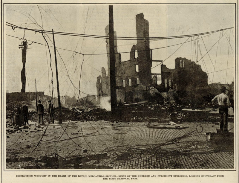 An image taken after the fire that appeared in Leslie's Weekly newspaper.